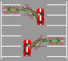 Use the width of the space between bays. Keep clutch on bite point. Check blindspots all around the vehicle.