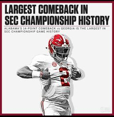 8d3258198 Alabama 35 Georgia 28 in the 2018 SEC Championship game in Atlanta  Alabama   RollTide · Alabama Football TeamCollege Football PlayersCrimson Tide ...