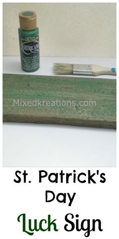 St. Patrick's day luck sign pinnable