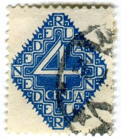 postage stamp from the netherlands