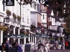 You will find some traditional English tea rooms at Tunbridge Wells Pantiles.