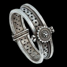 India | Silver Lotus Flower Bracelet from Orissa | Circa Early 20th Century | 600£