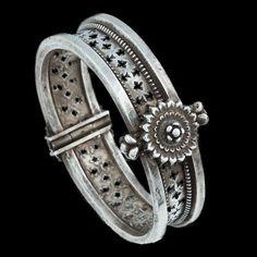 India | Silver Lotus FlowerBracelet from Orissa | Circa Early 20th Century | 600£