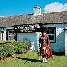 "Gretna Green. Scotland.We always went through Gretna Green going ""home"" to Scotland."