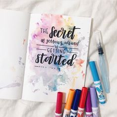 Likes, 8 Comments – bullet journal inspiration.journals… Likes, 8 Comments – bullet journal inspiration. Calligraphy Quotes Doodles, Brush Lettering Quotes, Doodle Quotes, Watercolor Lettering, Hand Lettering Quotes, Creative Lettering, Watercolor Background, Typography, Bullet Journal Quotes