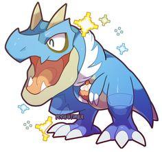 Shiny Tyrunt looks kinda like Totodile
