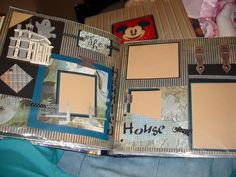 Haunted Mansion Scrapbook Page