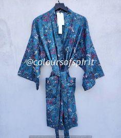 Kimono Cardigan, Kimono Dress, Festival Outfits, Festival Clothing, Cotton Sleepwear, Beach Wear Dresses, Cotton Kimono, Bridal Robes, Dressing