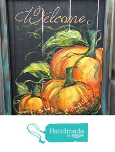 Pumpkin art screen ,Made to order ,FALL ,Fall decor, Welcome Sign , indoor and outdoor Fall Art from RebecaFlottArts http://www.amazon.com/dp/B0163SEU6C/ref=hnd_sw_r_pi_dp_QYolwb0FWX408 #handmadeatamazon