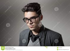 Handsome Man Dressed Casual Wearing Glasses Stock Photography - Image: 24950842