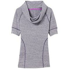 So comfy. I bought this in nightshade purple. Coronada Cowl - Super-textured, stretchy and cute, this demi-sleeve cowl-neck top has a curved hem and flattering style lines.