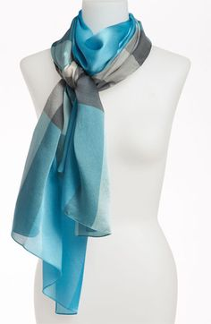 Burberry Check Print Silk Scarf available at #Nordstrom.