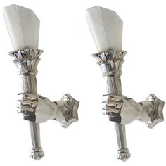 Pair of French Art Deco Sconces | From a unique collection of antique and modern wall lights and sconces at http://www.1stdibs.com/furniture/lighting/sconces-wall-lights/