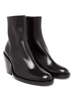 ANN DEMEULEMEESTER   Round Toe Leather Boots