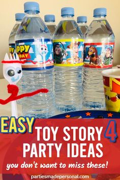Toy Story Party Ideas | DIY Toy Story Party Ideas including Toy Story 4 party games, and how to make a Toy Story cake easy. Lots of ideas for Toy Story party decorations DIY. For more fun kids birthday party ideas check out Parties Made Personal #toystory4  #toystoryparty #toystory #toystorybirthday