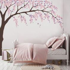 Nursery Wall Decals, Nursery Decor, Bedroom Decor, Nursery Design, Girl Nursery, Cherry Blossom Bedroom, Cherry Blossom Decor, Willow Tree, Weeping Willow