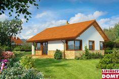 Zobacz powiększenie wizualizacji ogrodowej - projekt Lucca II Lucca, Gazebo, Outdoor Structures, Cabin, House Styles, Home Decor, Home Plans, Projects, Decoration Home