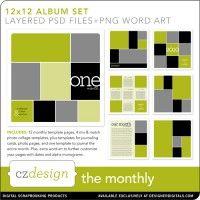 The Monthly 12 x 12 Album Set