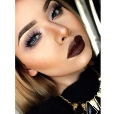 Love the lip color. Makeup On Fleek, Kiss Makeup, Flawless Makeup, Gorgeous Makeup, Love Makeup, Makeup Inspo, Makeup Inspiration, Sexy Makeup, Perfect Makeup