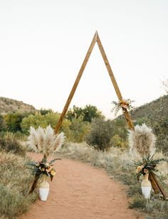 Hey! Party Collective Southwestern Roadtrip Elopement - ceremony arch