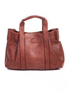 Borsa in Ecopelle Marrone - Vegan Leather Bag