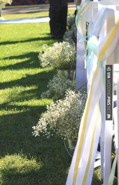 Love this! - yellow & aqua wedding