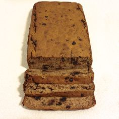 Paleo Chocolate Chip Banana Loaf - grain free, refined sugar free and low carb