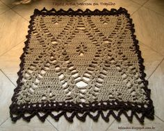 I ALSO CROCHETO ...: Rug Sand / Brown in Trapilho