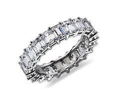 Emerald-Cut Diamond Eternity Ring in Platinum (5 ct. tw.) Maybe for 5 year anniversary?