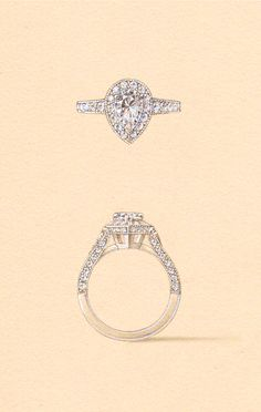 The Capella Setting. Naveya & Sloane engagement ring, made to order in Auckland, New Zealand.