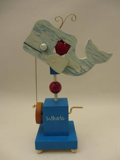 White Whale and Heart Automaton by TimDonaldAutomata on Etsy, £39.00