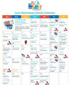 June Downtown Events Calendar