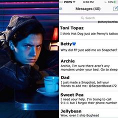 Jughead text messages  #riverdale #jughead