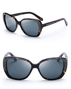 .......A Soltice gift from my love......... Kate Spade New York Brenna Oversized Polarized Sunglasses | Bloomingdale's