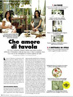 ELLE a TAVOLA - feb 2015 @csabadallazorza setting a romantic table with our washed linen tablecloth #marinacmilano  shop.marinac.it