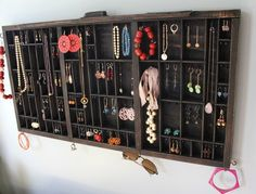 I should do this with the drawer I have!  Jewelry storage out of letter press drawer