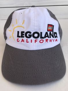 d3ce82677e5 Legoland California Youth Size Gray White w  Sun Original 2014 Hook n Loop  Strap