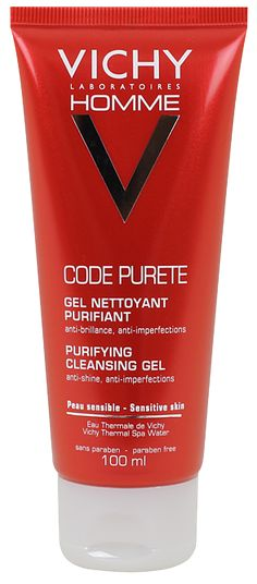 Vichy Homme Code Pureté Gel Nettoyant 100ml - Pharmacie Lafayette - Toilette