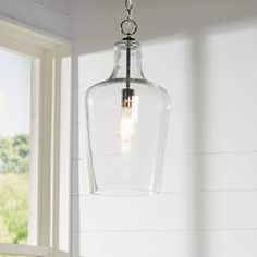 Kitchen Lighting Remodel Carey Cylinder Pendant - Perfect above the foyer or dining table, this pendant casts a warm glow over any space. Farmhouse Pendant Lighting, Kitchen Lighting, Foyer Pendant Lighting, Room Lights, Ceiling Lights, Lantern Pendant, Pendant Lights, Globe Pendant, Mini Pendant