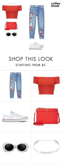 """rosey"" by xoxotiffvni on Polyvore featuring MANGO, Alice + Olivia, Converse, Kate Spade, Jennifer Zeuner and coffeebreak"