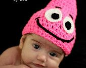 Patrick star hat - no pattern - Hahahahaha guess who's getting a pink hat for his birthday. Yep, my son Muahahaha