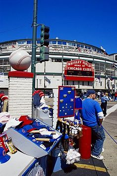 Wrigley Field, baseball stadium, Chicago, Illinois, United States of America…