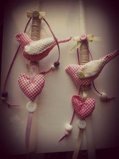 heart-bird candle,made for easter bazaar ''people with spacial need south crete''-προσφορά στο πασχαλινό μπαζάρ ΑΜΕΑ νότιας Κρήτης ''ΤΟ ΜΕΛΛΟΝ''