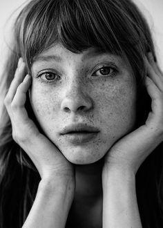 vovaklever:Freckles is beauty. Follow my instagram:...