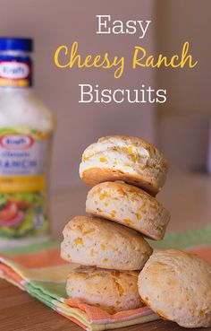 YUM! Try these easy cheesy ranch biscuits #FoodDeservesDelicious #SoFab #shop