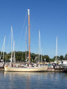 Sailboat in port at Annapolis