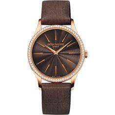 4897R-001 Patek Philippe Calatrava Womens 18K Rose Gold Watch | WatchesOnNet.com