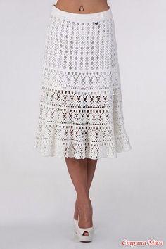 Сногсшибательная юбка - Вяжем крючком для солидных дам - Страна Мам