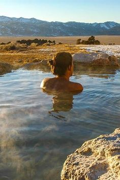 TRAVERTINE HOT SPRINGS IN BRIDGEPORT, CA An abundance of mineral deposits have turned the surrounding rocks in the area a spectacular rainbow of red, orange and green. Combined with views of the Sierra Nevada mountain range, it's not hard to see why tourists and locals love this soothing sanctuary. 7 Dreamy Hot Springs Across the U.S. via @PureWow