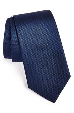 BOSS HUGO BOSS Woven Silk Tie available at #Nordstrom Color= CHARCOLE